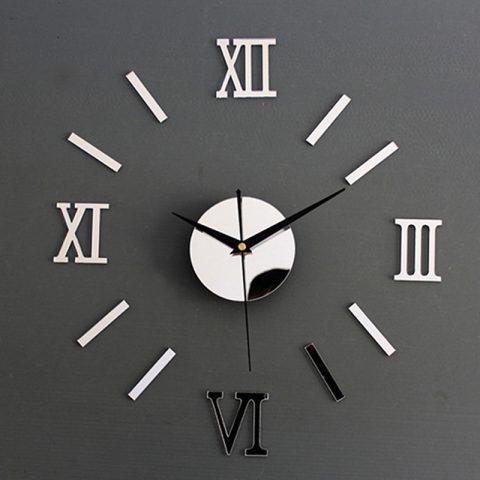 Reloj de Pared Espejo Acrílico con Pegatinas 3D