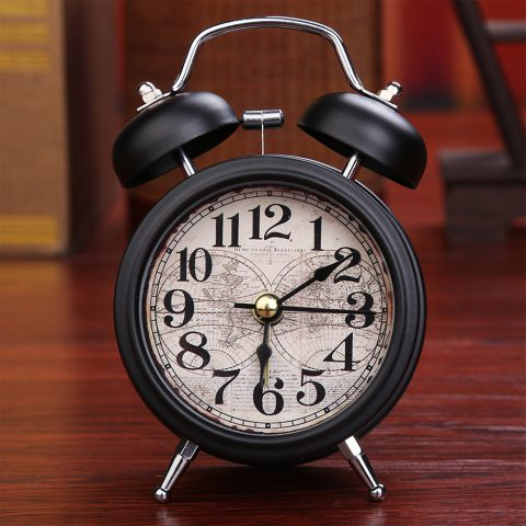 Despertador Retro con Doble Campana Estilo Antiguo