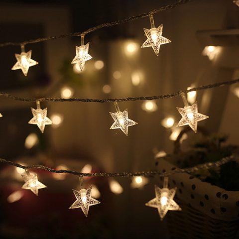 Luces Led de Estrellas para Navidad y Año Nuevo