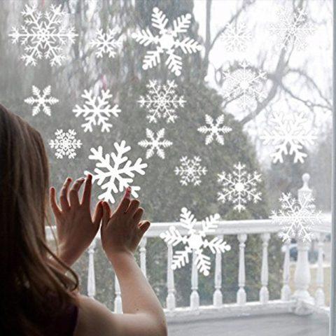 27 Pegatinas de Navidad para Ventana de Copos de Nieve
