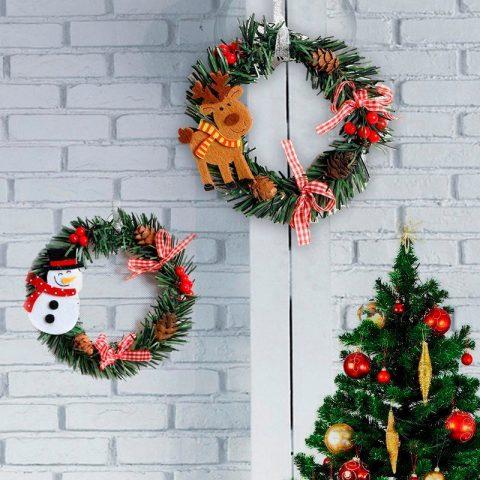 Guirnalda de Madera Decoración Navidad para el Hogar