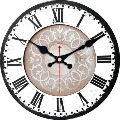 Reloj de Pared Decorativo con Números Romanos Diseño Antiguo