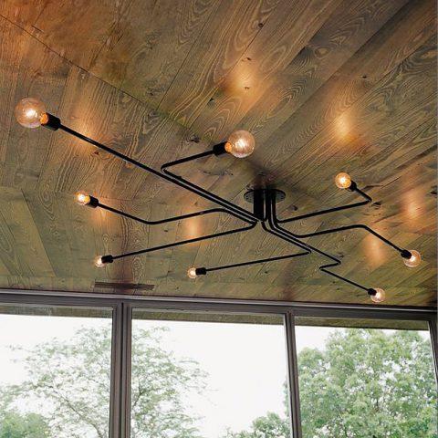 Lámparas Colgantes de Múltiples Varilla de Hierro Forjado para Hogar